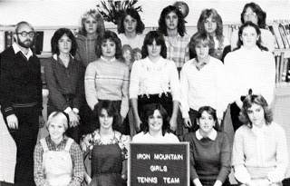 Iron Mountain Girls' Tennis Team - 1981-82